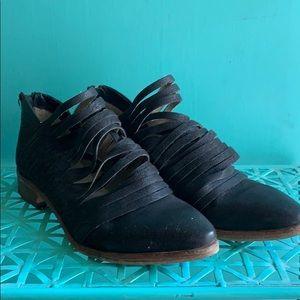 Women's leather booties.